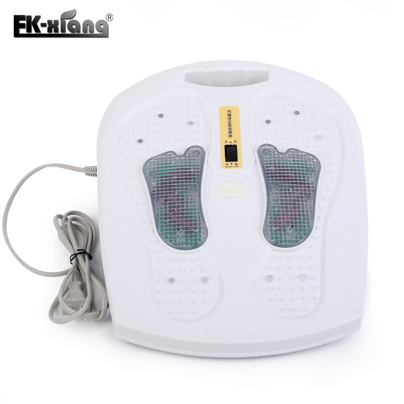 Infrared Reflexology Foot Massager Electric Machine Physical Automatic Roller Feet Care Massager Circulation Therapy Heater mz hot electric shiatsu reflexology vibrating roller foot massage machine for health care infrared with heating and therapy free