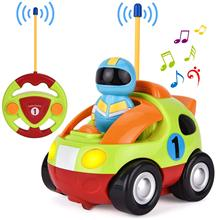 цена на Children's cartoon remote control car race car  with Music & Lights Electric Radio Control Toy for Baby Toddlers Kids & Children