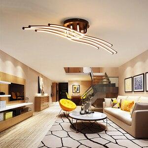 Image 2 - Moderne Led Plafond Verlichting Creatieve Koffie Minimalisme Lamp Voor Woonkamer Slaapkamer Thuis Verlichtingsarmaturen Aluminium Plafondlamp