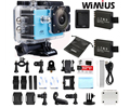 Wimius action sports camera 4 k ultra wifi 2.0 polegada lente 16mp 1080 p Full HD Capacete Mini DVR Carro Cam Ao Ar Livre ir Debaixo D' Água 40 M Pro