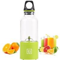 500ml 4 blade portable blender juicer machine mixer electric mini usb food processor  juicer smoothie blender cup maker juice 4