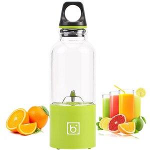 Image 5 - 500ml 4 blade portable blender juicer machine mixer electric mini usb food processor  juicer smoothie blender cup maker juice