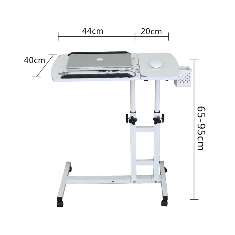 Foldable Computer Table Adjustable &Portable Laptop Desk Rotate Laptop Bed Table Can be Lifted Standing Desk With Keyboard цена 2017
