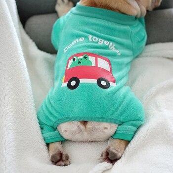 [Mpk] frenchie, french bulldog clothes, 개를위한 산호 양털 스웨터, 2 색 이용 가능