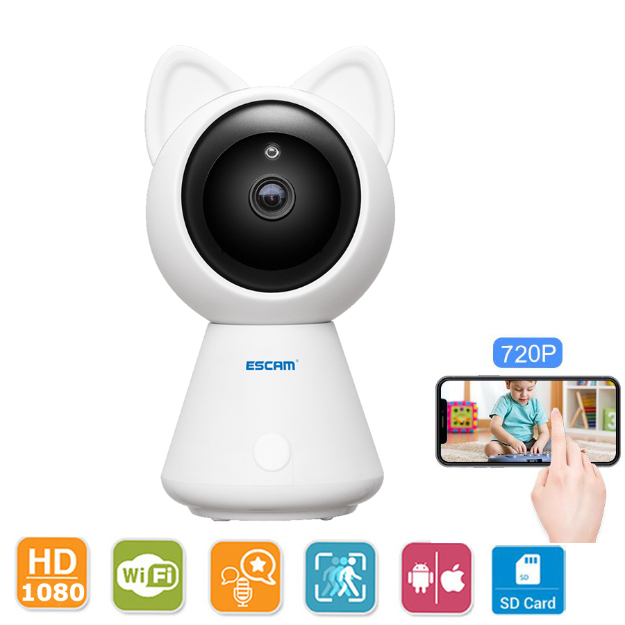 Escam Wireless IP Camera 1080P HD Wifi Pan/Tilt Monitor Home Baby Security Night Vision Audio Video Surveillance CCTV Camera hd 1080p pan