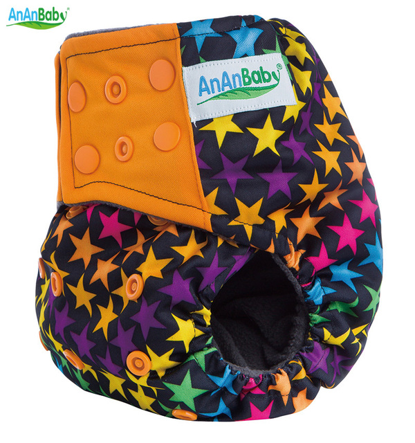 Great Quality Reusable Bamboo Charcoal AI2 Cloth Diaper Cover Washable  Nappy With Bamboo Charcoal Inner Double Gussets