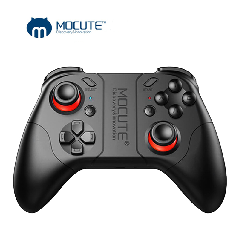 MOCUTE 053 Wireless Gamepad <font><b>Bluetooth</b></font> 3.0 Game Controller <font><b>Joystick</b></font> for iOS <font><b>Android</b></font> Phone Tablet PC Laptop for VR 3D Glasses