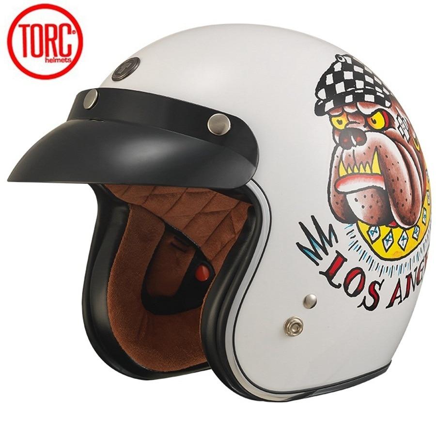 Livraison gratuite 1 pcs DOT Moto Vélo 3/4 Open Face Casque Vintage Harley Casques Flip up Visière Moto Casque