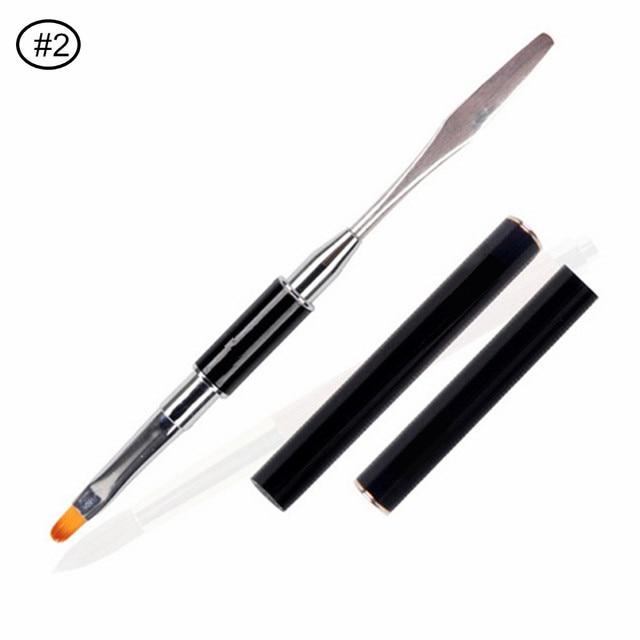 Makartt Poly Gel Nail Art Brush Pen Rhinestone Handle Nail Gel Brush ...
