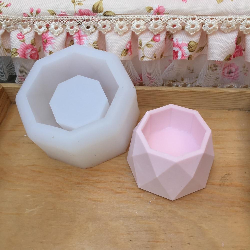 BK1130  Modern  Silicone  Mold  3D Handmade DIY Art Craft Flower Pot Concrete Mould