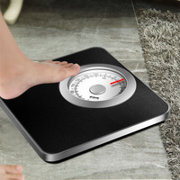 150kg Mechanical Bathroom Scale Floor Weight Body Scale Smart Human Weighing Spring Scale Stainless Steel Square Balance Gift