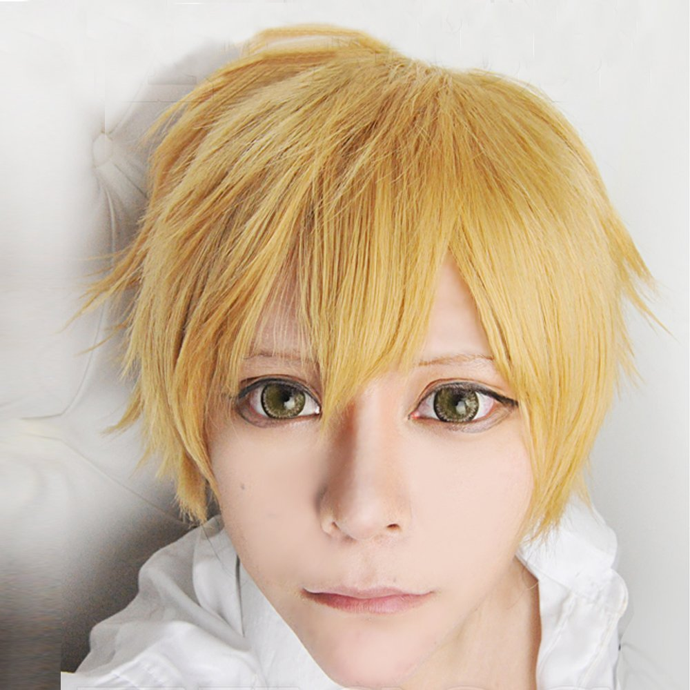 Harajuku Anime Hazuki Nagisa Cosplay Wigs Short Blonde Boy Male