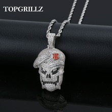 TOPGRILLZ Personalized Black Ops Pendant Necklace Men Iced Out Hip Hop/Punk Gold Silver Color Charms Chain Jewelry Gifts