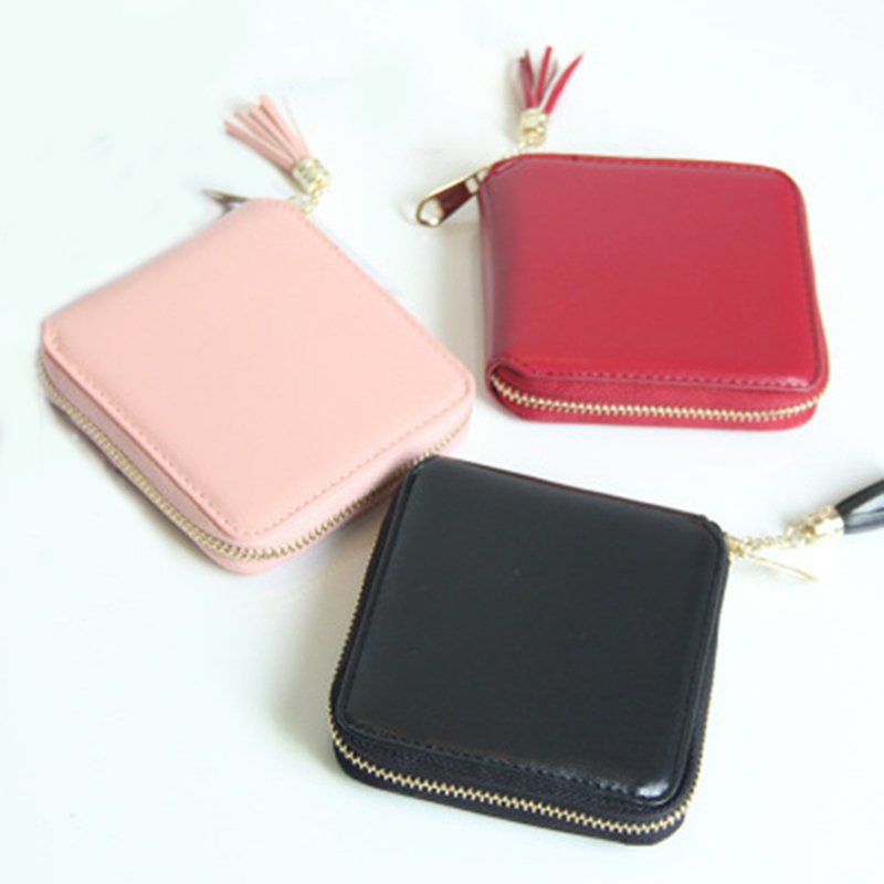 2017 High quality Brand Wallet Women Cute Tassel Small Purse PU Leather Wallet Female Zipper Coin Purse Wallet Card pack coin purse wallet female genuine leather mini small coin pouch kids girls korean cute tassel zipper round key pack kawaii wallet