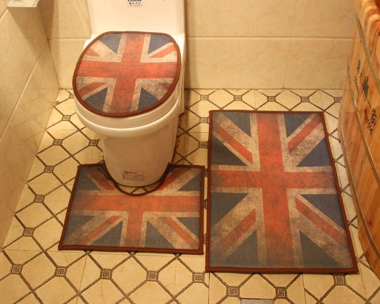 Stks set britse stijl zachte toilet seat deksel schoon wasbare
