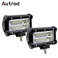 Autrod LED Work Light 4 5 Inch 36W 72W LED Bar Light Driving Fog Lamp For