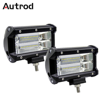 Autrod LED Work Light 4 5 Inch 36W 72W LED Bar Light Driving Fog Lamp For