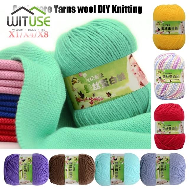 db5f647442a Skin-friendly 50g Roll Popular Super Soft Natural Smooth Bamboo Cotton  Knitting Yarn 60% Silk cotton 30% Cashmere 10% cotton