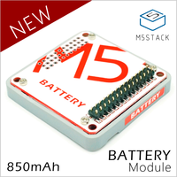 M5Stack Official In Stock Battery Module For Arduino ESP32 Core Development Kit Capacity 850mAh Stackable IoT