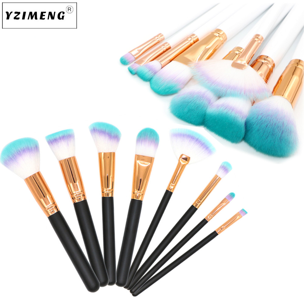 8Pcs/Set Foundation Brush Makeup Soft Synthetic Cosmetics Brush Kit Beauty Tools Professional Make Up Brush Facial Cosmetic Tool hot sale 2016 soft beauty woolen 24 pcs cosmetic kit makeup brush set tools make up make up brush with case drop shipping 31