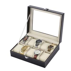 Standard 10 Slots Fashionable Watch Box Soft PU Leather Watch Storage Box Watch Display Slot Case Box Case DROPSHIPPING
