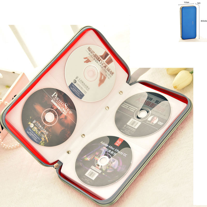 ymjywl CD Case Waterproof Compression High Quality CD Package 80 Disc Capacity For Home Office And Travel Storage CD Bag
