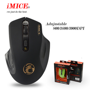 Image 3 - IMICE אלחוטי עכבר 2000DPI מתכוונן USB 3.0 מקלט אופטי מחשב עכבר 2.4GHz ארגונומי עכברים למחשב עכבר