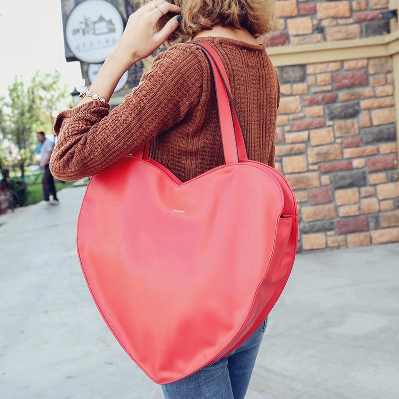 senhoras bolsa bolsa Heart Handbag : Red Hear Handbag
