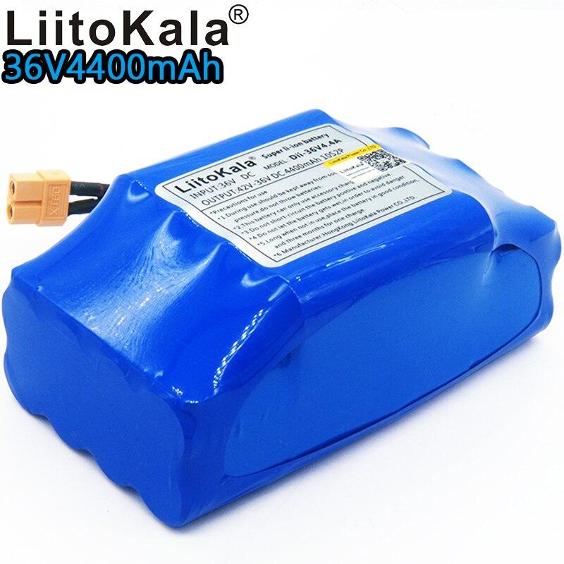 Liitokala 36 v batterie 10s2p batterie 36 V 4.4Ah batterie au lithium 4400 mAh balance voiture li-ion intégré bms