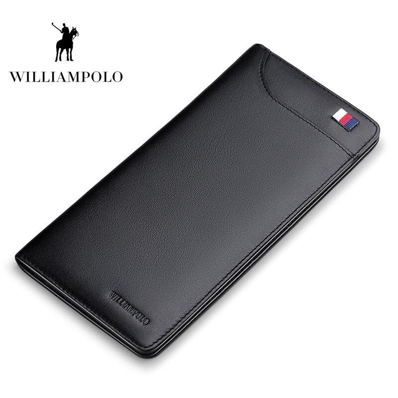 WILLIAMPOLO 2018 модные кожаные 13 держатель для карт s Для мужчин бумажник тонкий бумажник Portafoglio Uomo держатель для карт кошелек POLO302