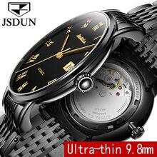 JSDUN Mince Montre Mécanique Hommes D'affaires Horloge Auto Date Bracelet En Acier Top Marque Homme Automatique Montre-Bracelet relogio masculino 8809G