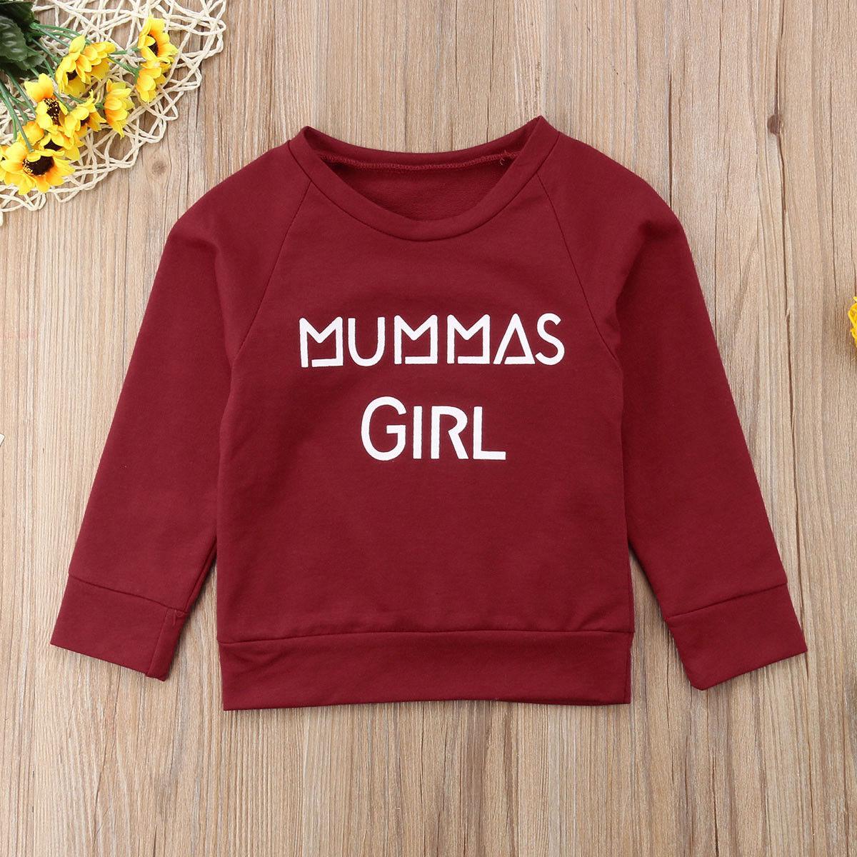 100% QualitäT Baby Boy Kid Mädchen Top Sweatshirt Uberspannkraft Kleidung Jumper Brief Muster Pullover Set Nette Personalisierte Pullover Wilden Stilvolle Angenehme SüßE