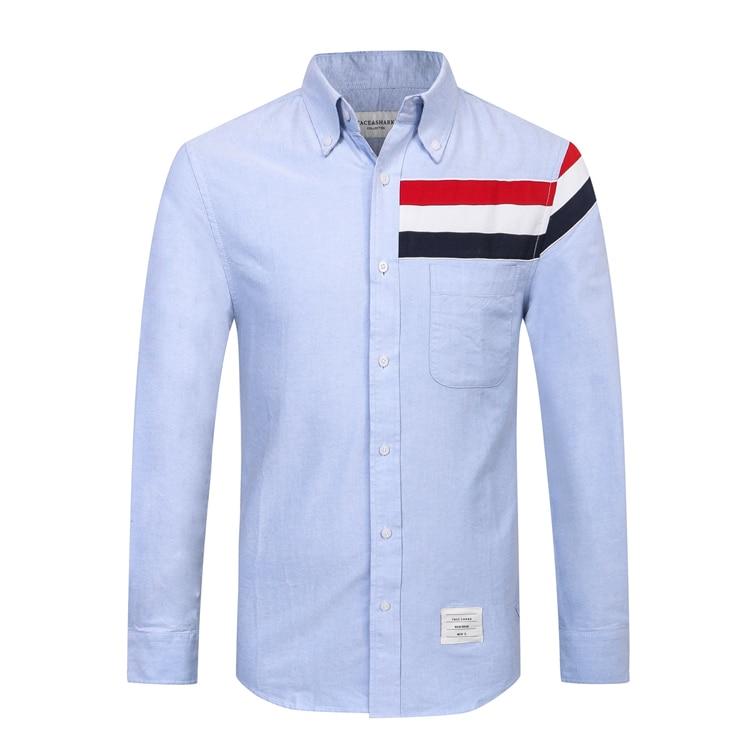 TACE & SAHRK miliarder T shirt mężczyźni 2017 uruchomienie jesień handel komfort jednolity kolor wysokiej jakości gentleman darmowa wysyłka w Koszulki od Odzież męska na  Grupa 1