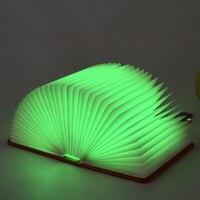 Book Lamp LED Night Light Folding Lamps USB Rechargeable Booklight Table Desk Decor _WK