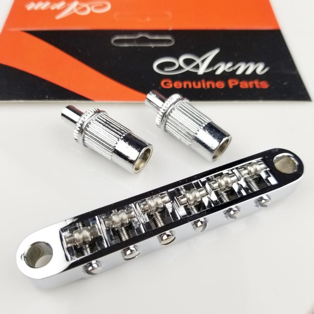 цена 1 Set Tune-O-Matic Roller Saddle Bridge LP SG Electric Guitar Bridge ( #0678 ) MADE IN KOREA в интернет-магазинах