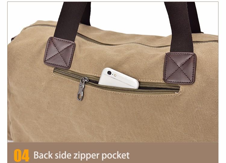 Famous Brand Men Vintage Canvas Men Travel Bags Women Weekend Carry On Luggage & Bags Leisure Duffle Bag Large Capacity Handbags (35)