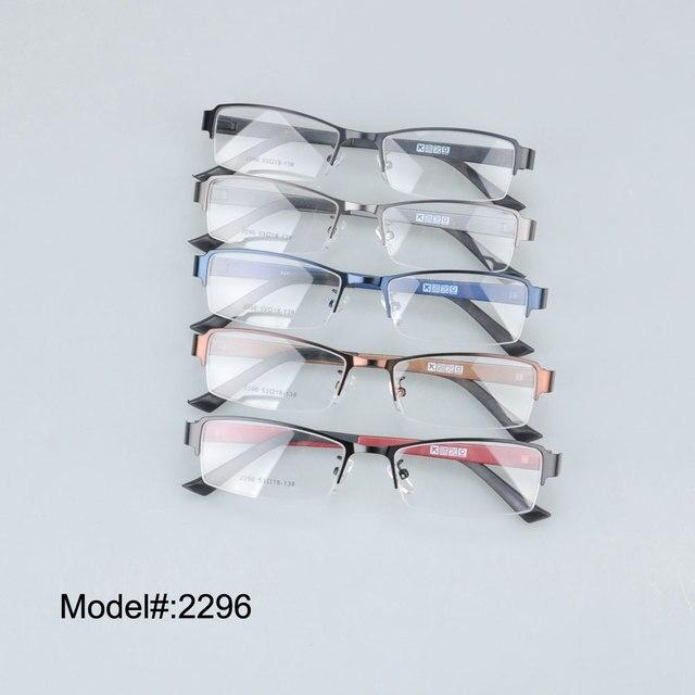 2296 бесплатная доставка половина обод металла рецепт близорукость очки очки RX оптических оправ
