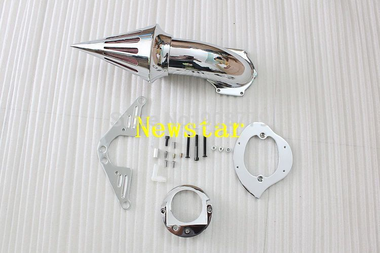 New Chrome Spike Air Cleaner Kits For Yamaha Road Star