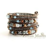 hot lotus adjustable leather cord bracelet Wrap Bracelet on Leather
