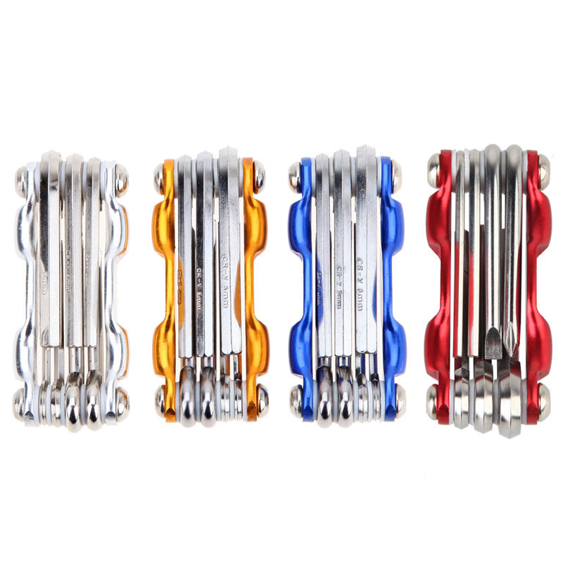 7 in 1 Bicycle Tools MTB Road Bike Multi Repair Tool Kit Socket Head Wrench Cycling Screwdriver Tool Multi Tool Color Random