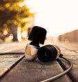 Nueva original vjjb k4 bass en la oreja de madera de ébano de graves auriculares diy magia vjjb actualización v1 auriculares de sonido con micrófono