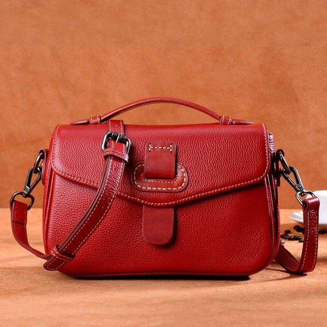Difenise Women Genuine Leather Vintage Shoulder Bags Cowhide Thread Ladies Crossbody Messenger bags Saddle Handbags Women Bag