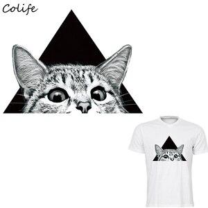 Наклейки для одежды с принтом кошачьих глаз на футболке, аксессуары для самостоятельного изготовления, новый дизайн, украшения одежды, моющ...