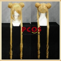 Sailor Moon Tsukino Usagi Serena Cosplay blonde Pruik mp000473