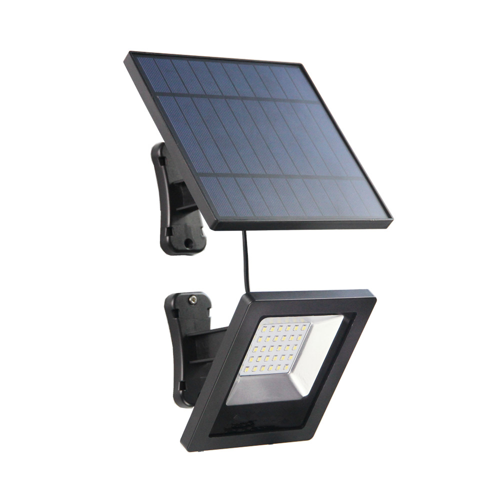 Ousam LED LED Solar Light With Panel 3Meters Cable Garden Floodlight Waterproof Wall