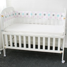 1 Pcs Mesh Crib Bumpers Breathable Star Crown Tree Cloud Baby Bedding Crib Liner Baby Cot Bed Around Protector