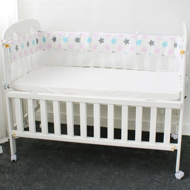 1 Pcs Mesh Crib Pers Breathable Star Crown Tree Cloud Baby Bedding Liner Cot