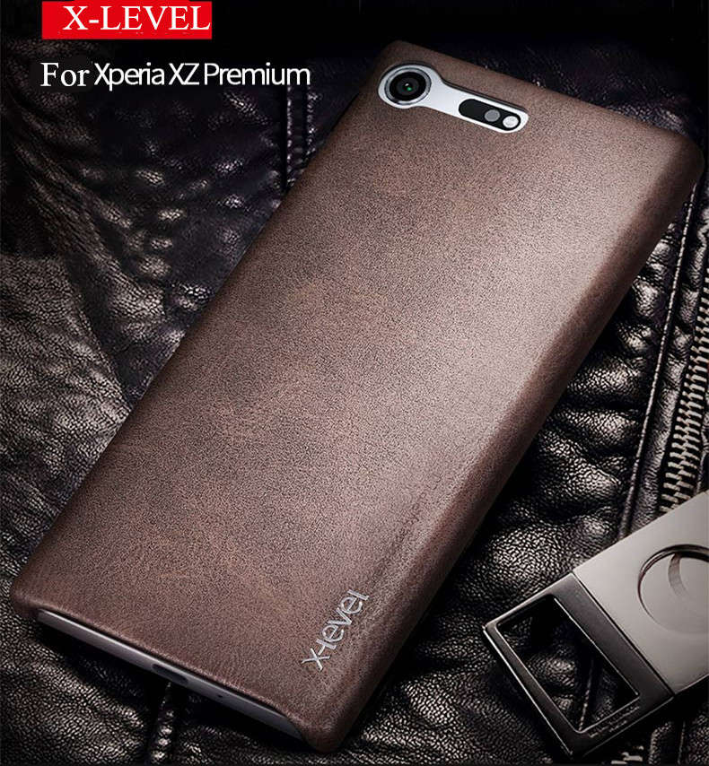 New back cover case For sony xperia xz premium leather cases and covers Luxury brand x