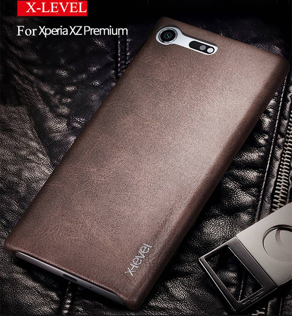 best sneakers 7630c 3c719 US $6.98 |New back cover case For sony xperia xz premium leather cases and  covers Luxury brand x level original desgin with retail package-in Fitted  ...