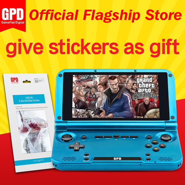 GPD XD RK3288 2GB/32GB 5 Inches H-IPS  Screen Handheld Game Player Video Game console  Buy One Get one Sticker As Gift (Blue)